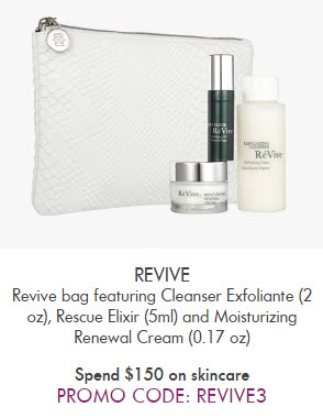 Receive a free 4-piece bonus gift with your $150 Skincare purchase