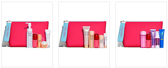 Receive your choice of 6-piece bonus gift with your $75 Shiseido purchase
