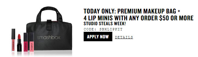 Receive a free 5- piece bonus gift with your $50 Smashbox purchase