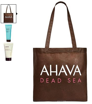 Receive a free 3-piece bonus gift with your $35 AHAVA purchase