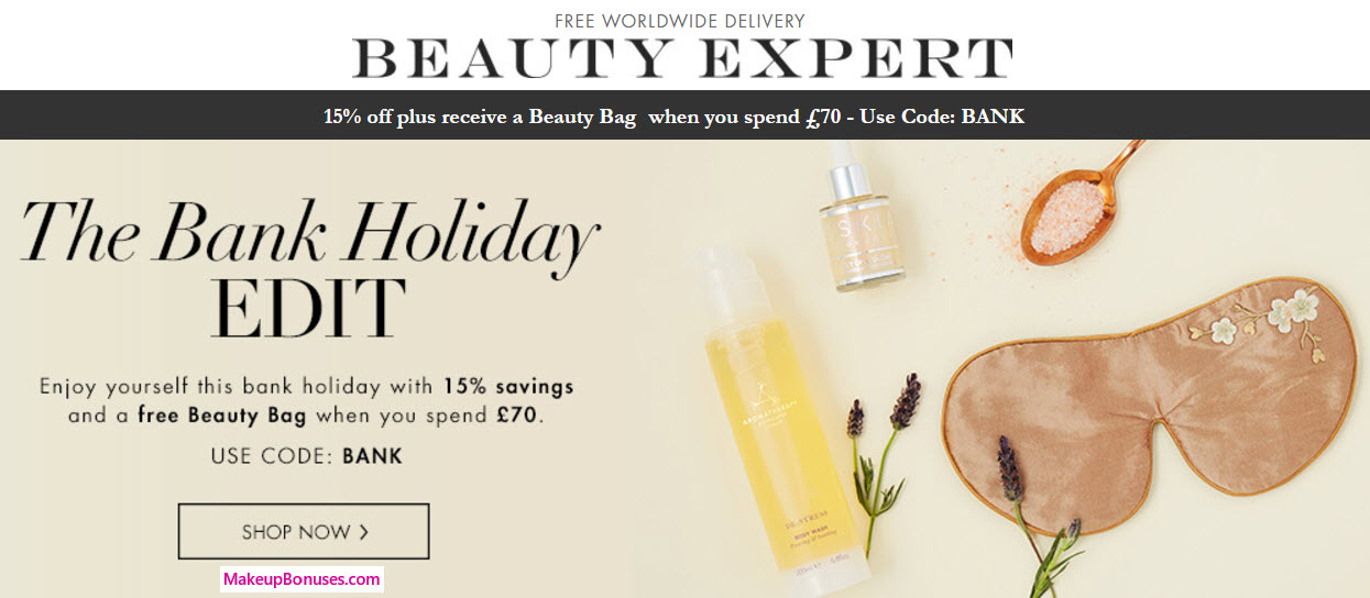 Receive a free 3-piece bonus gift with your approx $90 (70 GBP) purchase