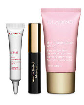 Receive a free 3-piece bonus gift with your $65 Clarins purchase
