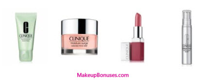 Receive a free 5-piece bonus gift with your $60 Clinique purchase