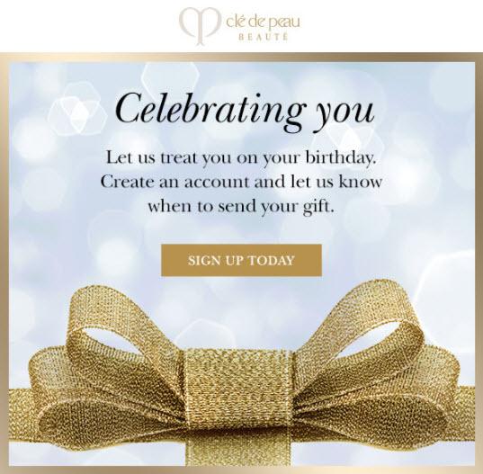 Clé de Peau Beauté Birthday Gift - MakeupBonuses.com