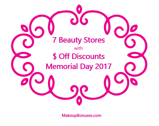 Dollar Amount Discounts Memorial Day 2017