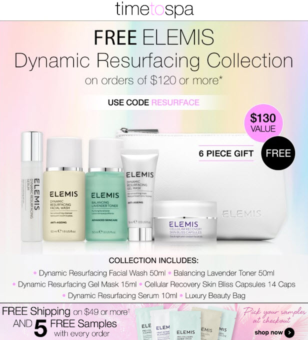Receive a free 6-piece bonus gift with your $120 Multi-Brand purchase