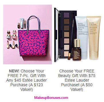 Receive your choice of 8-piece bonus gift with your $75 Estée Lauder purchase