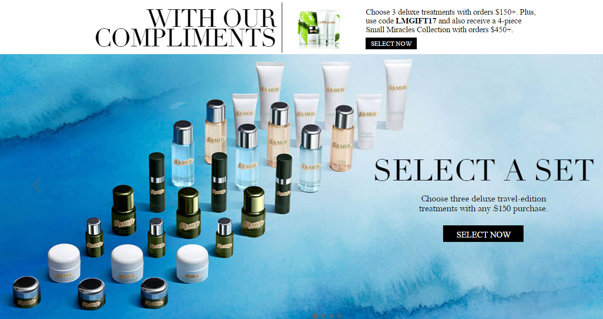 Receive a free 7-piece bonus gift with your $450 La Mer purchase