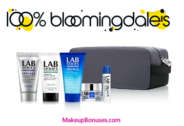 Receive a free 6-piece bonus gift with your $75 LAB SERIES purchase