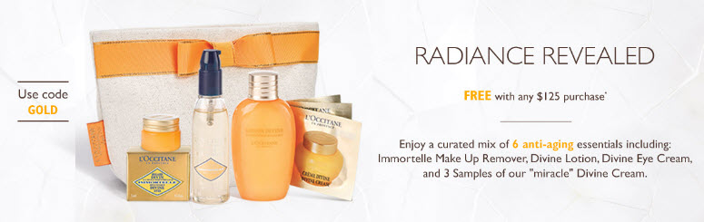 Receive a free 7-piece bonus gift with your $125 L'Occitane purchase