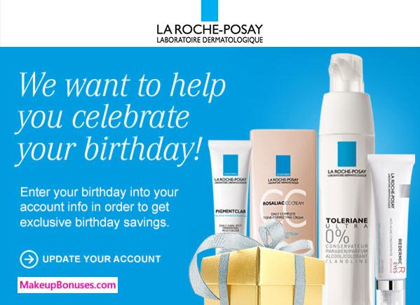 La Roche-Posay Birthday Gift - MakeupBonuses.com