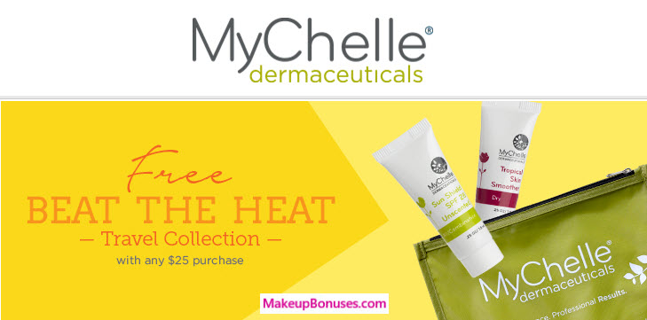 Receive a free 3-piece bonus gift with your $25 MyChelle purchase