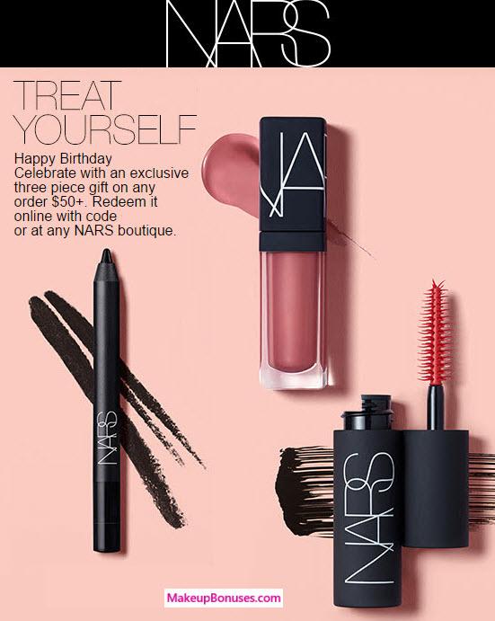 NARS free birthday gift MakeupBonuses.com