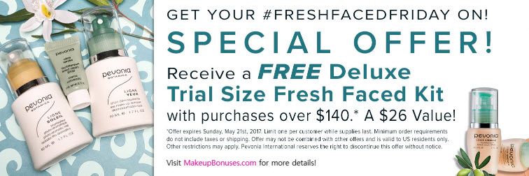 Receive a free 3-piece bonus gift with your $140 Pevonia purchase
