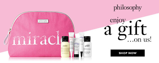 Receive a free 6-piece bonus gift with your $35 Philosophy purchase