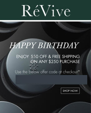 ReVive 2017 Free Birthday Gift MakeupBonuses.com