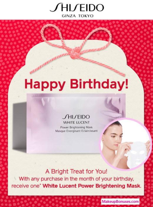 Shiseido Birthday Gift - MakeupBonuses.com