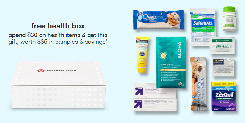 Receive a free 10-piece bonus gift with your $30 Health Item purchase