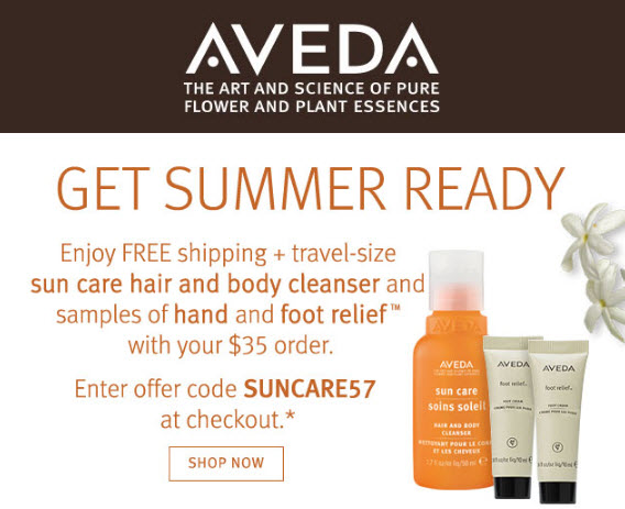 Receive a free 3-piece bonus gift with your $35 Aveda purchase