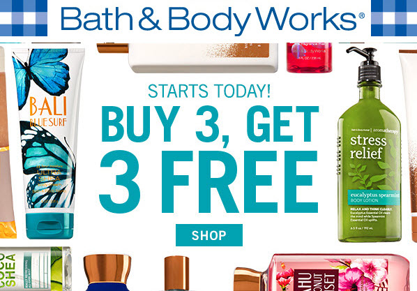 Receive your choice of 3-piece bonus gift with your 3 Body Care Product purchase