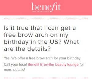 benefit birthday free gift 2017 MakeupBonuses.com