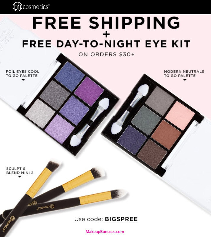 1cbb0b57128e Receive a free 5-piece bonus gift with your  30 BH Cosmetics purchase