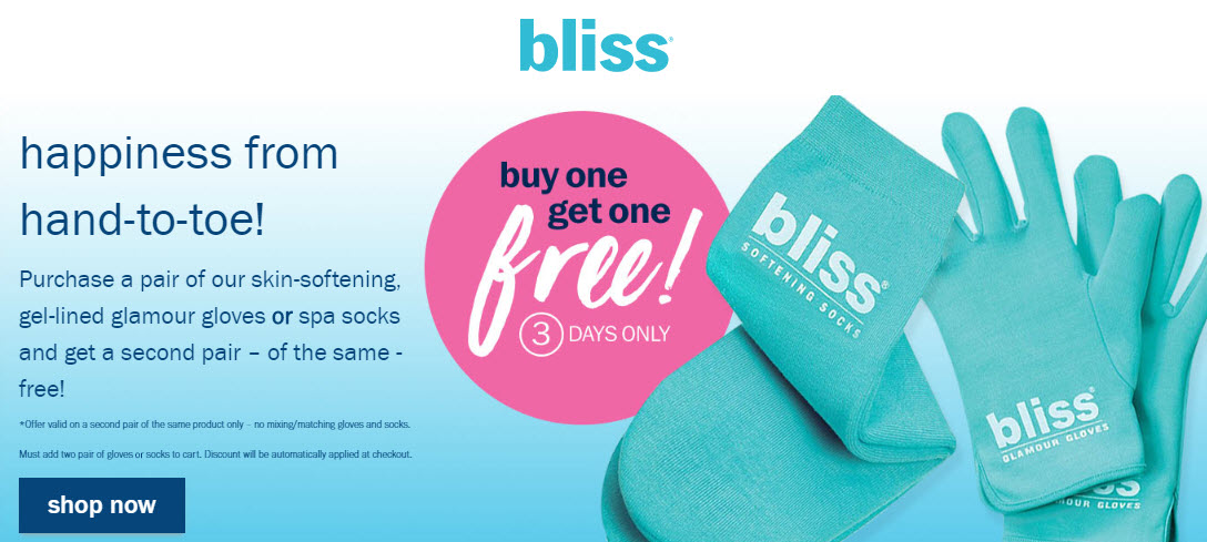 Receive your choice of 3-piece bonus gift with your 3 Skin Softening Gloves or Socks purchase