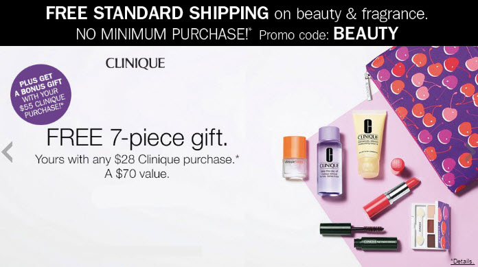 Clinique 7-piece Free Bonus Gift with $28 Purchase at Bon-Ton