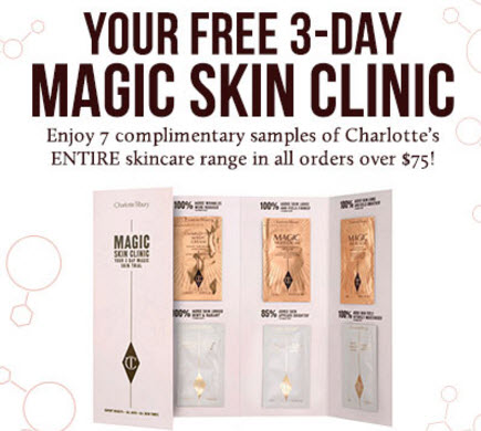 Receive a free 7-piece bonus gift with your $75 Charlotte Tilbury purchase