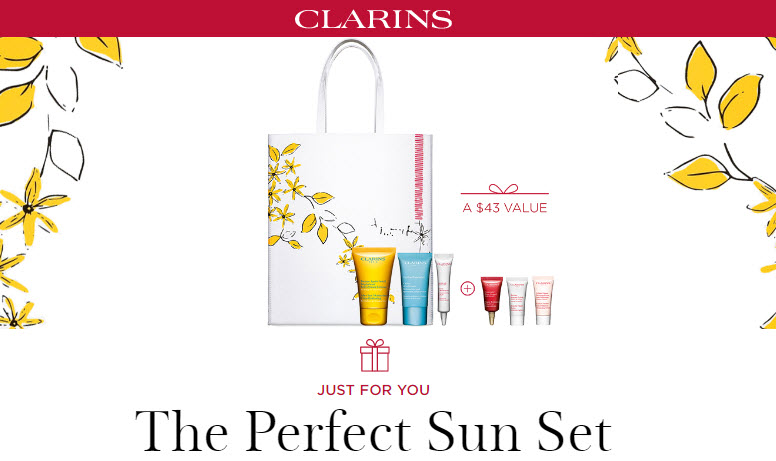 Receive a free 4-piece bonus gift with your $100 Clarins purchase