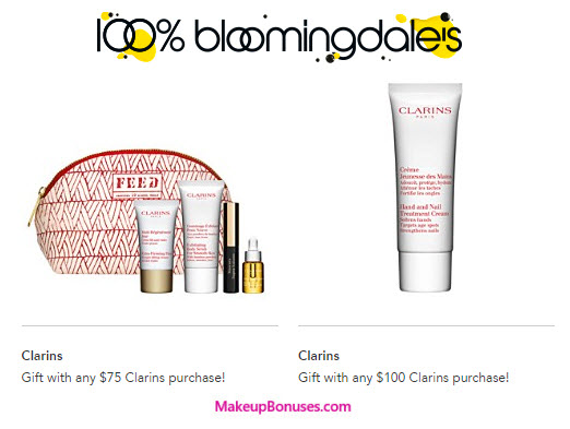 af55a67aecf2 Receive your choice of 5-piece bonus gift with your  75 Clarins purchase