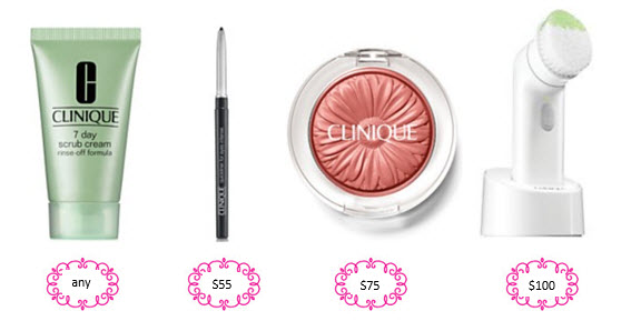 Receive a free 4-piece bonus gift with your $100 Clinique purchase