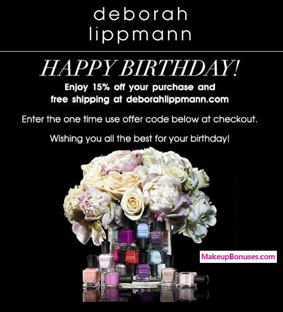 deborah lippmann Birthday Gift - MakeupBonuses.com #deborahlippmann #CrueltyFree #Vegan