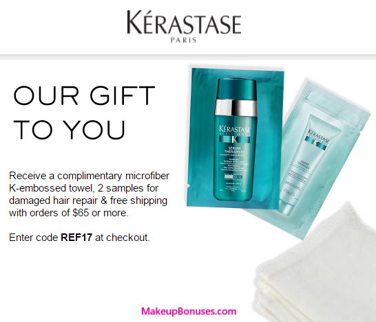 There are 8 Kerastase Canada promo codes for you to consider including 6 coupon codes, and 2 sales. Most popular now: Sign Up for Kerastase Canada Email Newsletters and Receive Exclusive Offers. Latest offer: Special Black Friday - spend $, get 3 travel size Products.