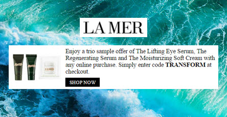 Receive a free 3-piece bonus gift with your La Mer purchase