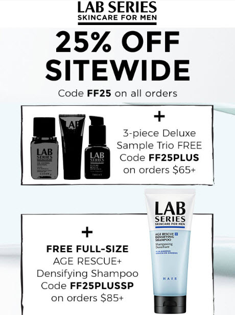Receive a free 4-piece bonus gift with your $85 LAB SERIES purchase