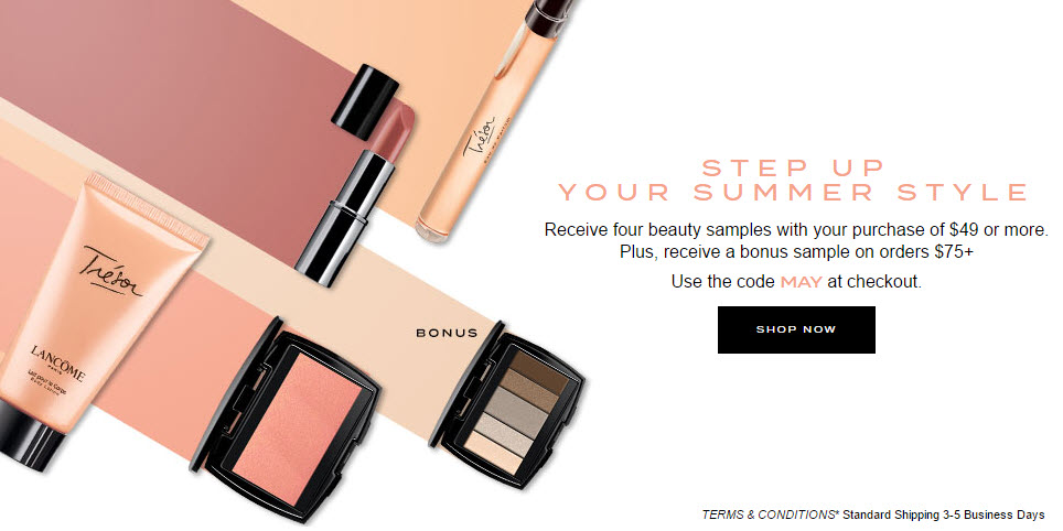 Receive a free 4-piece bonus gift with your $49 Lancôme purchase