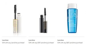 Receive a free 3-piece bonus gift with your $65 Lancôme purchase