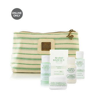 Receive a free 5-piece bonus gift with your $40 Mario Badescu purchase