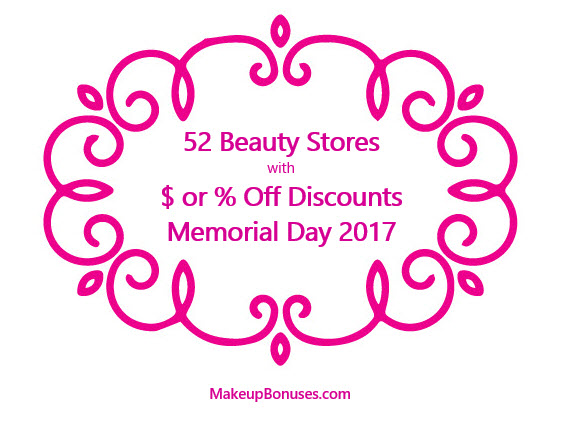 Memorial Day 2017 Beauty Discounts
