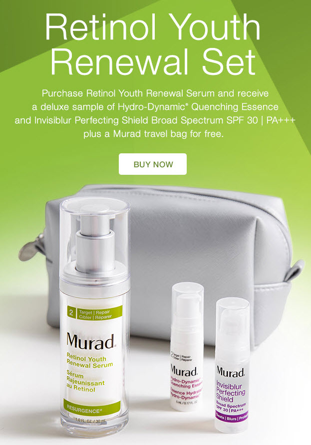 Receive a free 3-piece bonus gift with your Retinol Youth Renewal Serum purchase