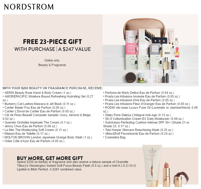 Receive a free 23-piece bonus gift with your $200 Multi-Brand purchase