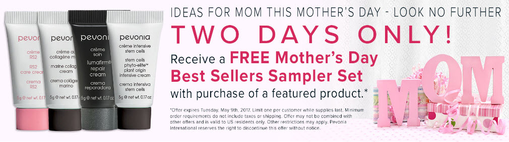 Receive a free 4-piece bonus gift with your Featured Product purchase
