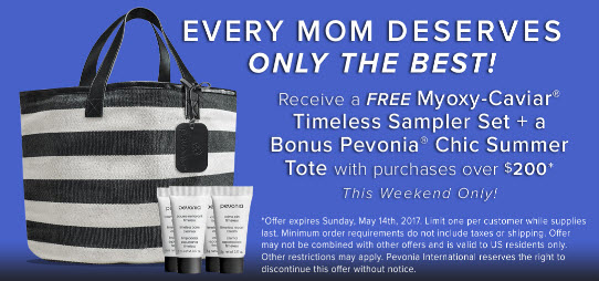 Receive a free 5-piece bonus gift with your $200 Pevonia purchase
