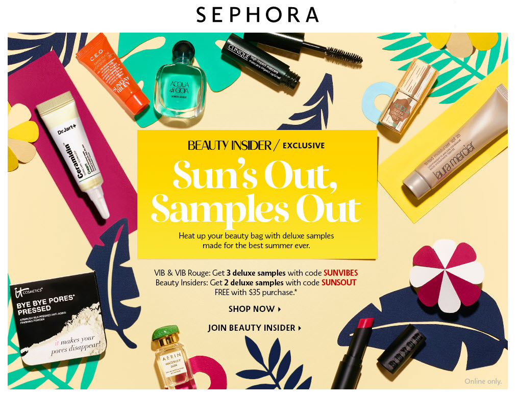 Receive a free 3-piece bonus gift with your VIB and VIB ROUGE member $35 purchase