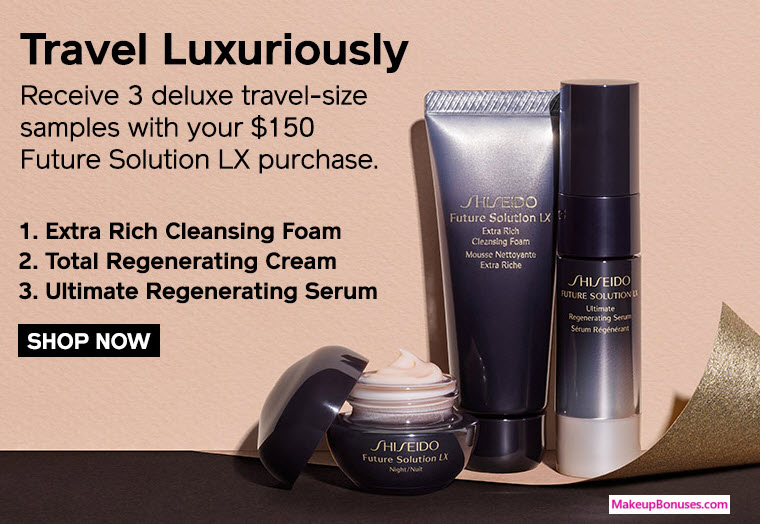Receive a free 3-piece bonus gift with your $150 Future Solution LX purchase