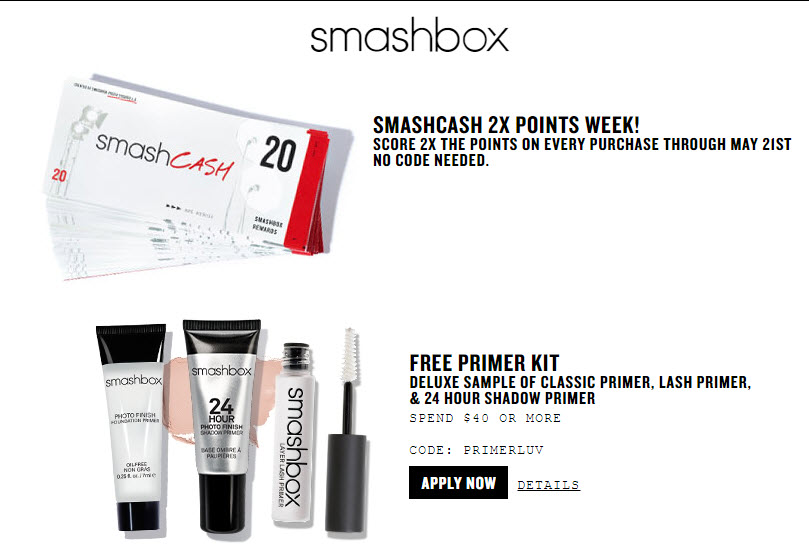 Smashbox coupons