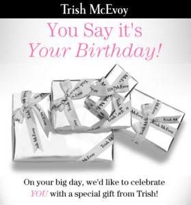 trish mcevoy free birthday gift MakeupBonuses.com