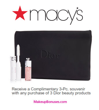 Dior Beauty Free Gift with Purchase - MakeupBonuses.com