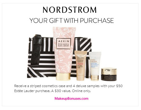 Nordstrom Free Bonus Gift with Purchase Offers from Estée Lauder ...